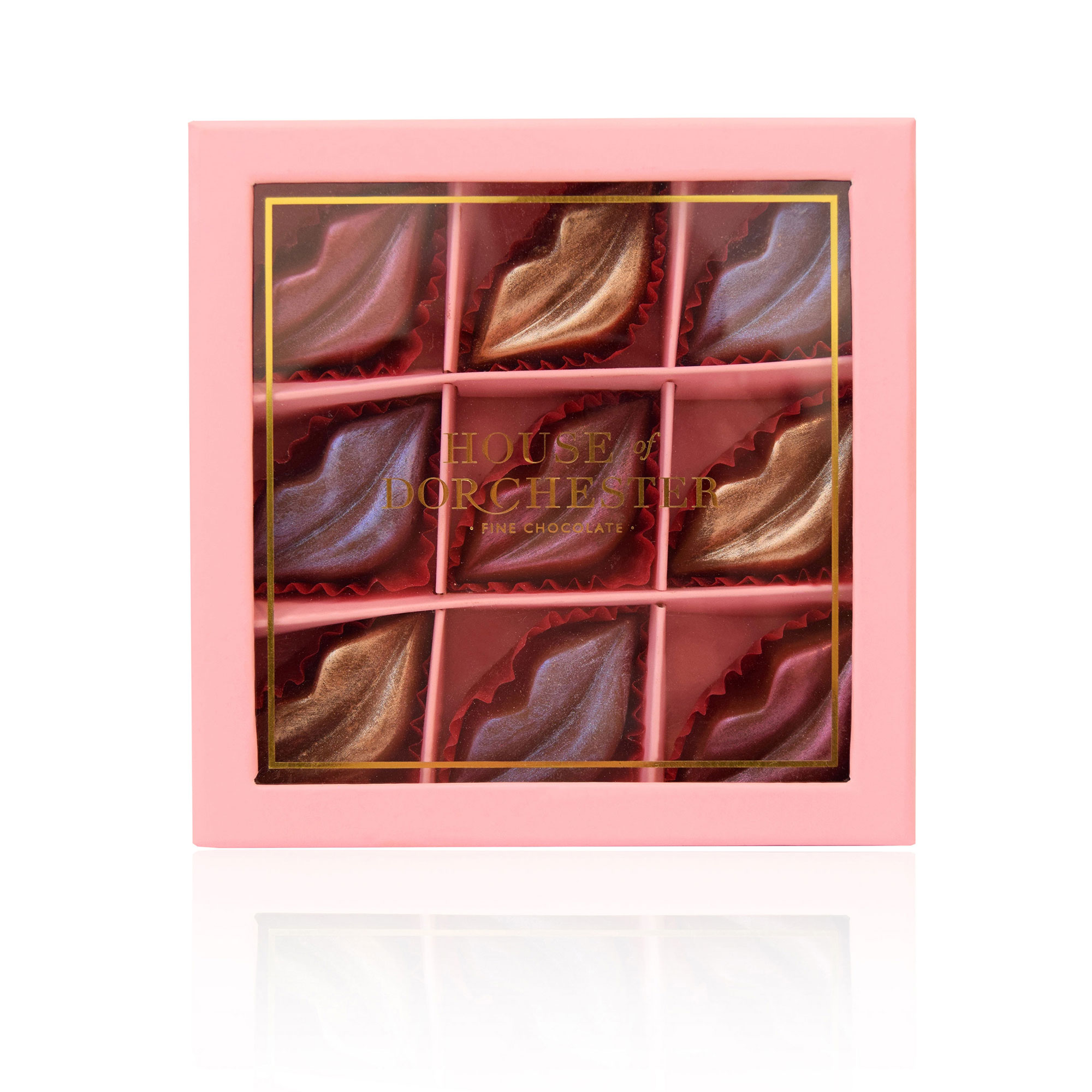 9 piece Milk Chocolate Lustre Lips