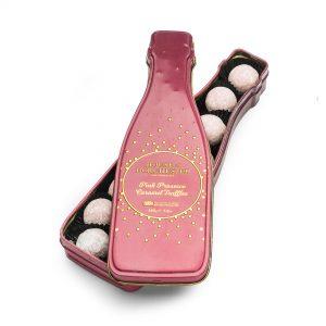 Pink Prosecco Caramel Truffles tin