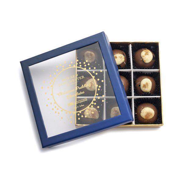 Christmas Pudding Chocolates open box
