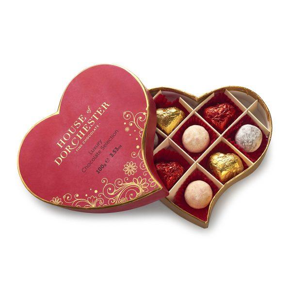 Luxury Chocolate Selection Heart open box image