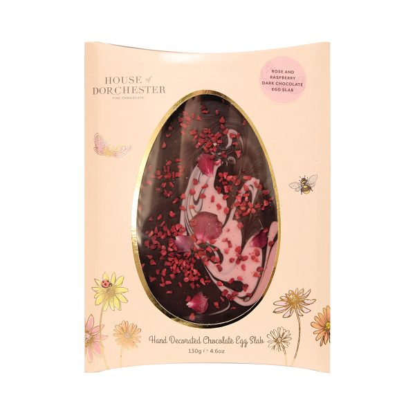 House of Dorchester Rose and Raspberry Chocolate Slab