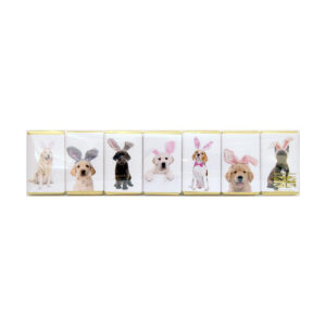 House of Dorchester Dogs in Bunny Ears Milk Chocolate Slims